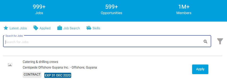 Example of a job listing. - careers.gy