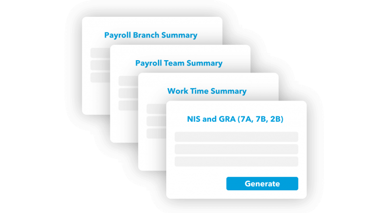 Report generation feature of Techlify payroll
