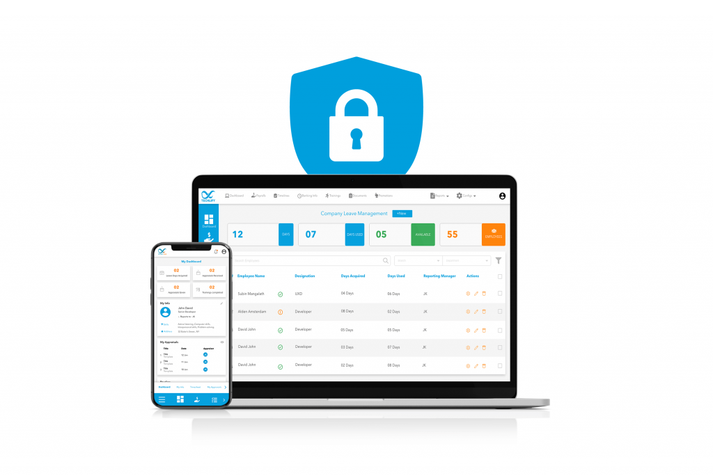 Security feature of Techlify payroll